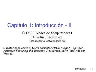 Capítulo 1: Introducción - II