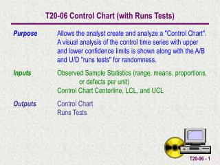 T20-06 Control Chart (with Runs Tests)