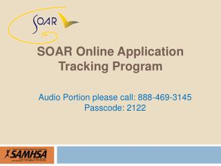 SOAr Online Application  Tracking Program