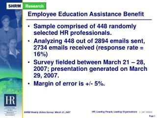 Employee Education Assistance Benefit