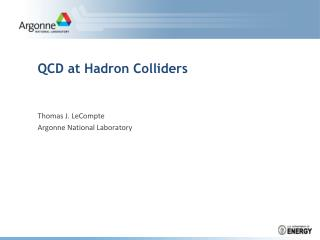 QCD at Hadron Colliders