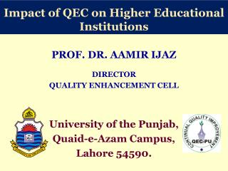 Impact of QEC on Higher Educational Institutions