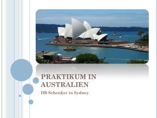 PRAKTIKUM IN AUSTRALIEN