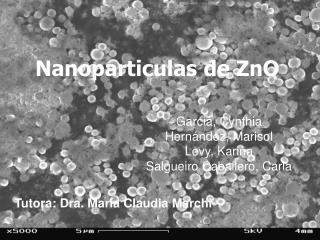 Nanoparticulas de ZnO