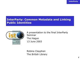 InterParty: Common Metadata and Linking Public Identities