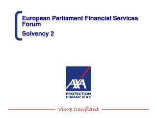 European Parliament Financial Services Forum Solvency 2
