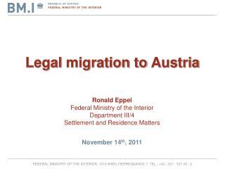Legal migration to Austria