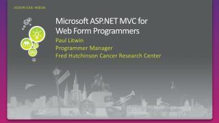 Microsoft ASP MVC for Web Form Programmers