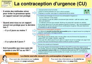 La contraception durgence CU
