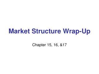 Market Structure Wrap-Up
