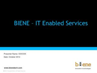 BIENE – IT Enabled Services