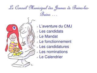 Le Conseil Municipal des Jeunes de Bains-les-Bains …