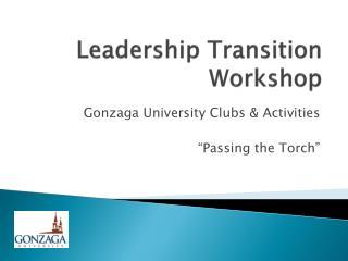 Leadership Transition Workshop