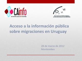 Acceso a la información pública sobre migraciones en Uruguay