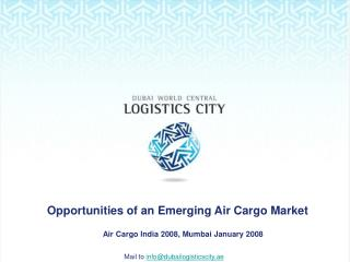 Opportunities of an Emerging Air Cargo Market