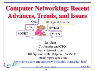 Computer Networking: Recent Advances, Trends, and Issues
