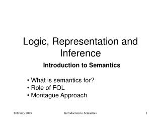 Logic, Representation and Inference