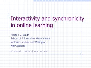 Interactivity and synchronicity in online learning