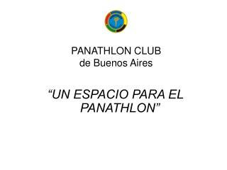 PANATHLON CLUB de Buenos Aires