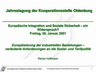 Jahrestagung der Kooperationsstelle Oldenburg