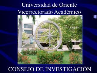 Universidad de Oriente Vicerrectorado Académico