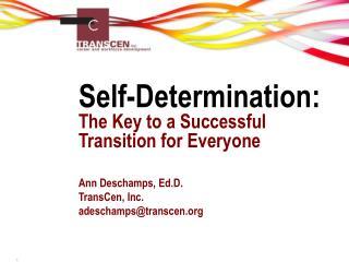 Self-Determination: