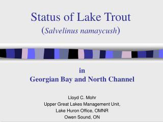 Status of Lake Trout ( Salvelinus namaycush )