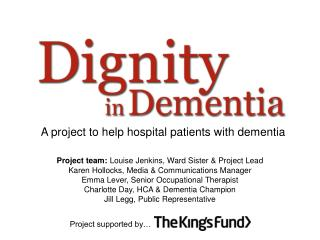 A project to help hospital patients with dementia