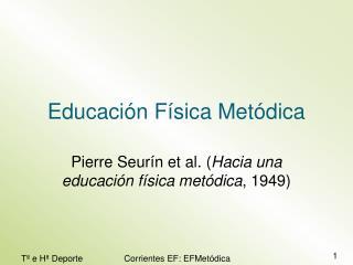 Educación Física Metódica
