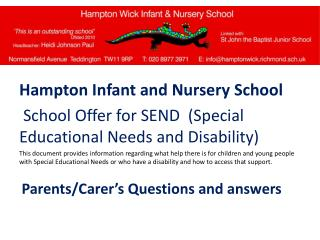 Hampton Infant and Nursery School