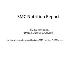 SMC Nutrition Report