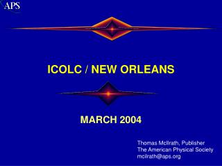 ICOLC / NEW ORLEANS