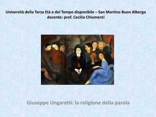 Giuseppe Ungaretti: la religione della parola