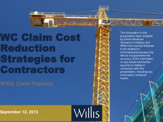 WC Claim Cost Reduction Strategies for Contractors