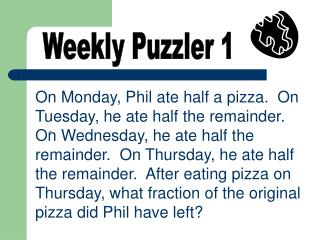 Weekly Puzzler 1
