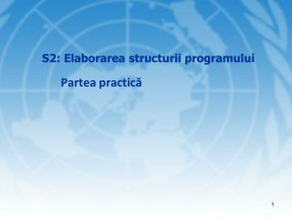 S 2 : Elaborarea structurii programului Partea practic ă