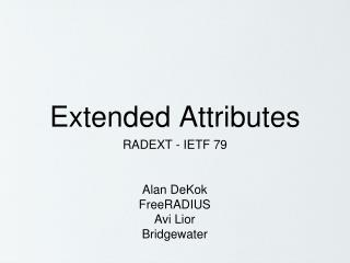 Extended Attributes