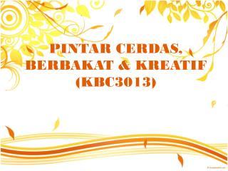 PINTAR CERDAS, BERBAKAT & KREATIF (KBC3013 )