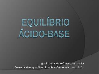 Equilíbrio  ácido-base