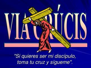 """""""Si quieres ser mi discípulo, toma tu cruz y sígueme""""."""