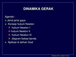 DINAMIKA GERAK