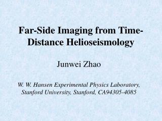 Far-Side Imaging from Time-Distance  Helioseismology