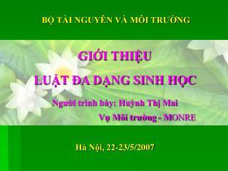 Hà Nội, 22-23/5/2007