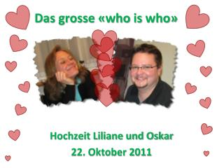 Das grosse « who is who »