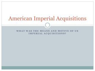 American Imperial Acquisitions
