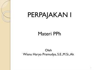 PERPAJAKAN I