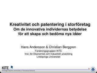 Hans Andersson & Christian Berggren