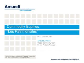 Commodity Equities  Les Patrimoniales