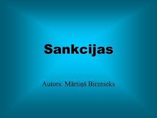 Sankcijas