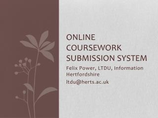 Online Coursework Submission System